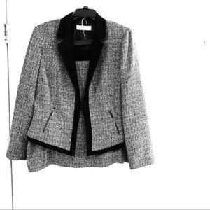 Tahari Black & White Suit